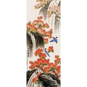 Водопад Канва с рисунком для вышивки бисером Конек