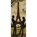 Париж Канва с рисунком для вышивки бисером Конек