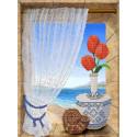 Вид на море Канва с рисунком для вышивки бисером Конек