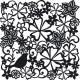 Птица и цветы Трафарет для фона 006 Hintergrundschablone Viva Decor