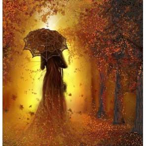 Леди Осень Канва с рисунком для вышивки бисером Конек