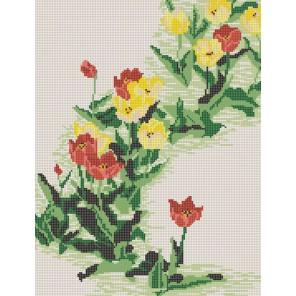 Тюльпаны Канва с рисунком для вышивки бисером Конек