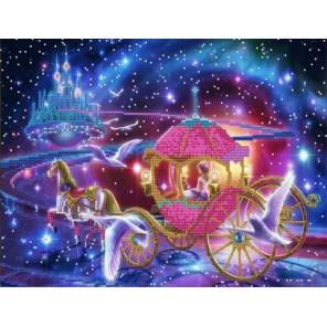 Волшебная ночь Канва с рисунком для вышивки бисером Конек