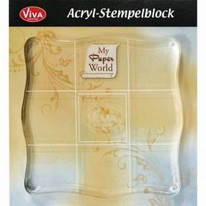 Акриловый блок Основа для штампов 10x10 Acryl-Blocke Viva Decor