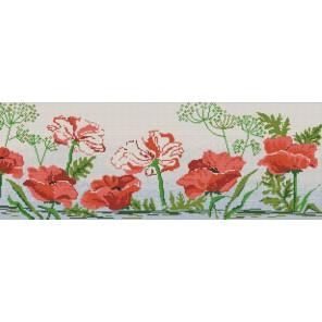 Маков цвет Канва с рисунком для вышивки бисером Конек