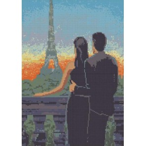 В Париже Канва с рисунком для вышивки бисером Конек