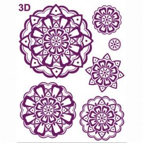 Розетки 3D Силиконовые штампыдля скрапбукинга, кардмейкинга Viva Decor