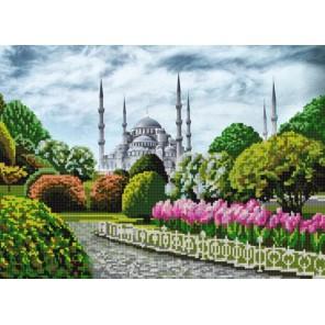Голубая мечеть Канва с рисунком для вышивки бисером Конек