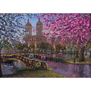 Весна в городе Канва с рисунком для вышивки бисером Конек