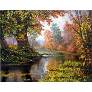 Осенняя пора Канва с рисунком для вышивки бисером Конек