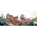 Павлины Канва с рисунком для вышивки бисером Конек