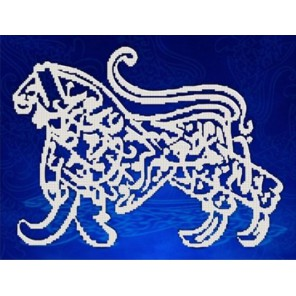 Лев. Каллиграфия Канва с рисунком для вышивки бисером Конек