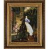 Пример оформления в рамке Всадница К.Брюллов Канва с рисунком для вышивки бисером Конек 9708