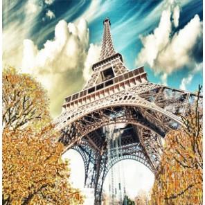 Эйфелева башня Канва с рисунком для вышивки бисером Конек