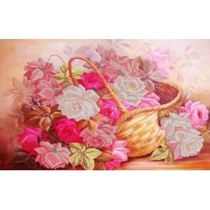 Розы в корзине Канва с рисунком для вышивки бисером Конек