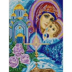 Богородица Канва с рисунком для вышивки бисером Конек