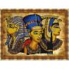 Пример оформления в рамке Египет Канва с рисунком для вышивки бисером Конек 9737