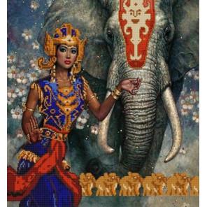 Индийский слон Канва с рисунком для вышивки бисером Конек