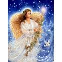 Рождественский ангел Канва с рисунком для вышивки бисером Конек