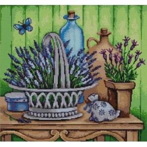 Лаванда Канва с рисунком для вышивки бисером Конек