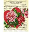 Лунный свет и розы Канва с рисунком для вышивки бисером Конек