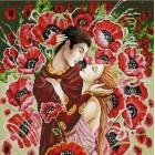 В маках Канва с рисунком для вышивки бисером Конек