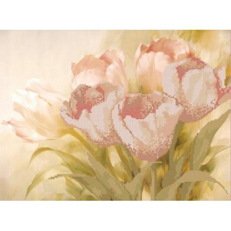 Запах весны Канва с рисунком для вышивки бисером Конек