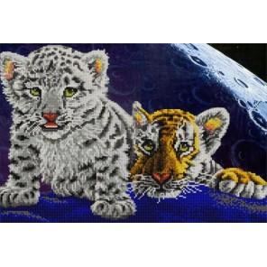 Тигрята Канва с рисунком для вышивки бисером Конек