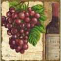 Виноград. Винтаж 1 Канва с рисунком для вышивки бисером Конек