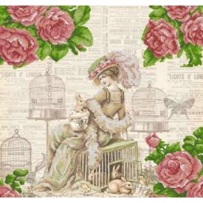 Зайцы Канва с рисунком для вышивки бисером Конек