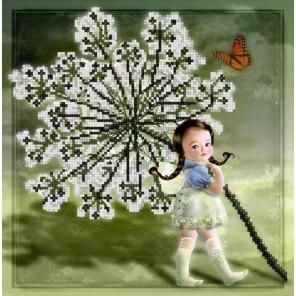 Малышка Канва с рисунком для вышивки бисером Конек