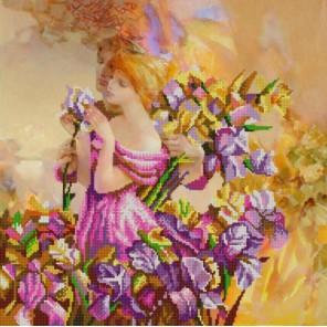 В ирисах Канва с рисунком для вышивки бисером Конек