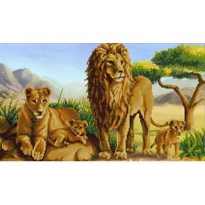 Львы Канва с рисунком для вышивки бисером Конек