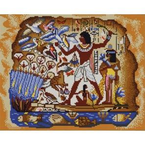 Египетская Канва с рисунком для вышивки бисером Конек