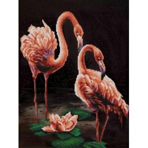 Фламинго Канва с рисунком для вышивки бисером Конек