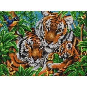 Тигры Канва с рисунком для вышивки бисером Конек