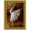 Пример оформления в рамке Балерина Канва с рисунком для вышивки бисером Конек 9840