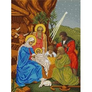 Пример оформления в рамке Рождество Христово Канва с рисунком для вышивки бисером Конек 9851