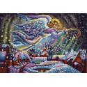 Звездная ночь Канва с рисунком для вышивки бисером Конек
