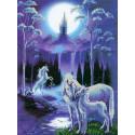 Лунная ночь Канва с рисунком для вышивки бисером Конек