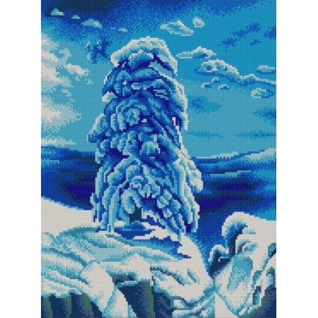 На севере диком Канва с рисунком для вышивки бисером Конек