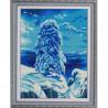 Пример оформления в рамке На севере диком Канва с рисунком для вышивки бисером Конек 9880