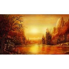 Оранжевое лето Канва с рисунком для вышивки бисером Конек