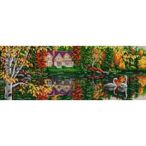 На пруду Канва с рисунком для вышивки бисером Конек