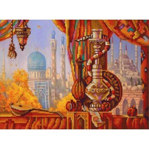 Кальян Канва с рисунком для вышивки бисером Конек