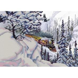 Поезд Канва с рисунком для вышивки бисером Конек