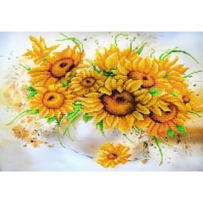 Солнечный букет Канва с рисунком для вышивки бисером Конек