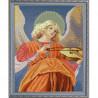 Пример оформления в рамке Ангел играющий на виоле Канва с рисунком для вышивки бисером Конек 9943