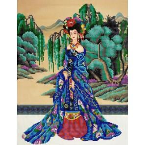 Красавица Востока Канва с рисунком для вышивки бисером Конек