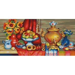 У самовара Канва с рисунком для вышивки бисером Конек